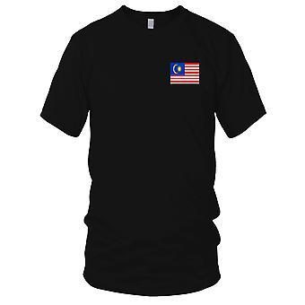 Malaysia Malaysian Country National Flag - Embroidered Logo - 100% Cotton T-Shirt Kids T Shirt