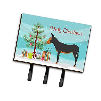 Carolines Treasures  BB9222TH68 Catalan Donkey Christmas Leash or Key Holder