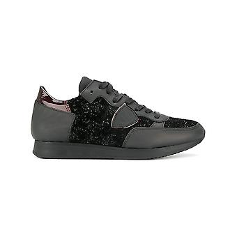 Philippe model women's TLRDGY01 black leather of sneakers
