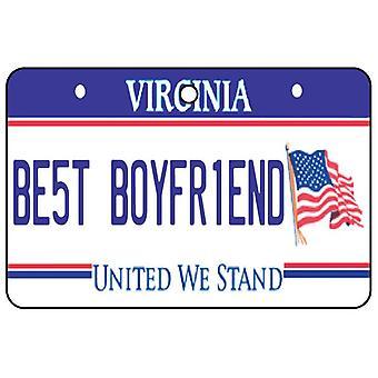 Virginia - Best Boyfriend License Plate Car Air Freshener