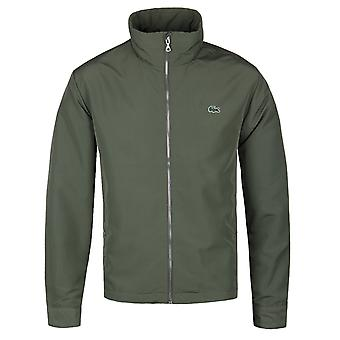 Lacoste Military Green Concealed Hood Windbreaker