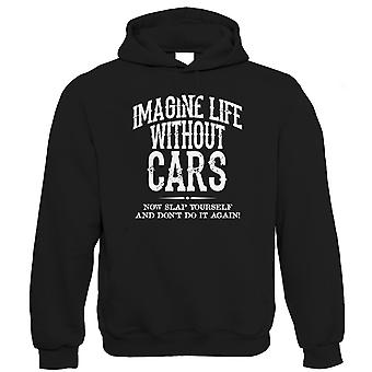 Leven zonder auto's Mens grappig Hoodie (S tot 5XL)