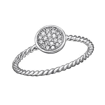 Round - 925 Sterling Silver Jewelled Rings - W29223X
