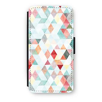 Huawei P8 Lite (2015-2016) Flip Case - Coloured triangles pastel