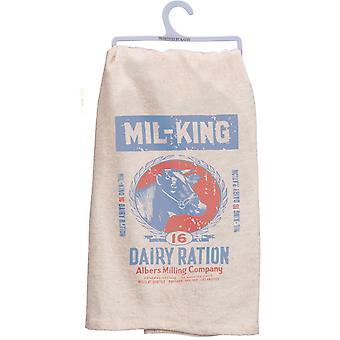Milking Dairy Cow Printed Kitchen Dish Towel Cotton
