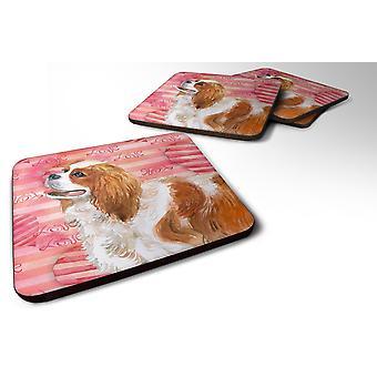 Set of 4 Cavalier Spaniel Love Foam Coasters Set of 4