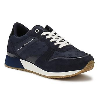 Tommy Hilfiger Womens Midnight Navy Star Trainers