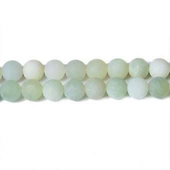 Nitką 60 + blado zielony nowy Jade 6mm gładkie matowe koraliki CB31985-2