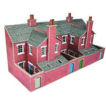 Respalda de relieve bajo, casa adosada de ladrillo rojo de Metcalfe Po276 00/H0