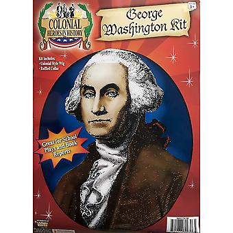 George Washington Founding Father USA American President Mens Costume Kit