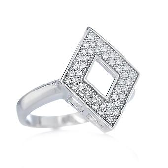 Orphelia Silver 925 Ring Big Square  Zirconium   ZR-7267