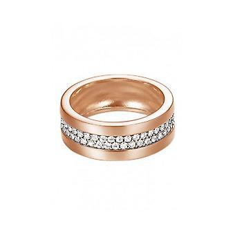 Esprit Damen Ring Silber Rosé Zirkonia Pure Pave ESRG92214C1