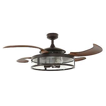 Retractable blade ceiling fan Fanaway Classic Bronze