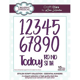 Creative Expressions Stylish Script Die-Essential Numbers