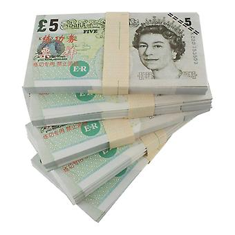 Play money-5 pounds (100 banknotes)