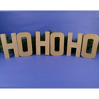 Large 205mm Paper Mache 'Ho Ho Ho' Christmas Letters to Decorate