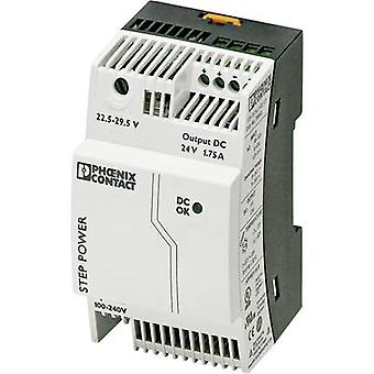 Phoenix Contact STEP-PS/1AC/24DC/1.75 Rail mounted PSU (DIN) 24 Vdc 1.9 A 42 W 1 x