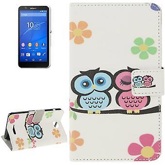Sac d'amour Phone Case pour téléphone portable Sony Xperia E4 couples de hibou