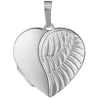 قلب قلب المنجد ميدالية/نبات 925 فضة قلادة فضة قلادة