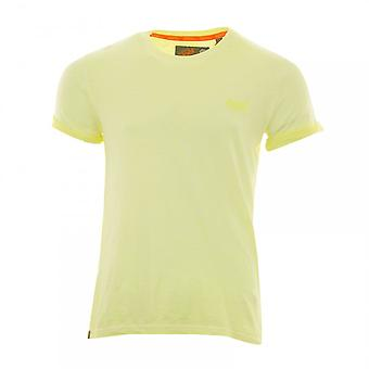 Superdry Mens Orange Label Low Roller T-Shirt (Yellow)