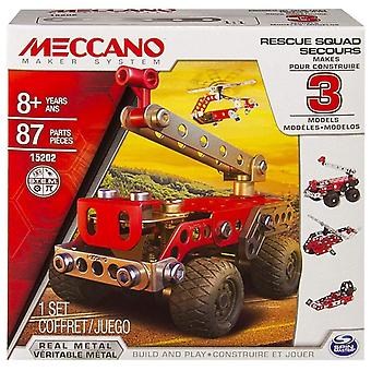 Meccano Multi modeller, 3 Model sæt - redning