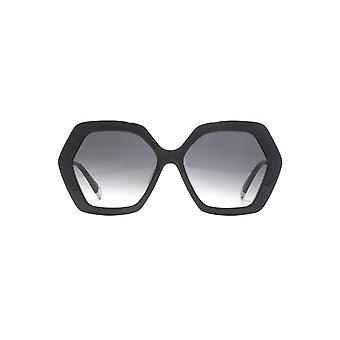 Furla Geometric Sunglasses In Black
