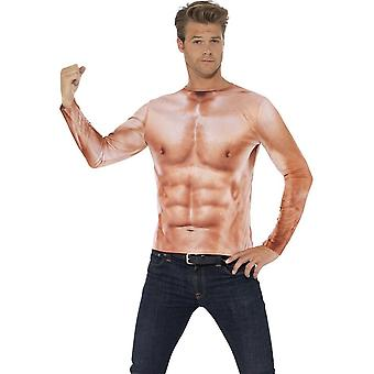 Smiffy's Realistic Muscle Top, With Long Sleeves