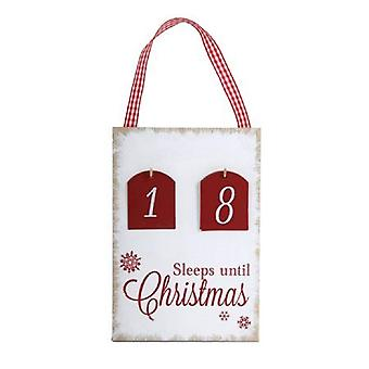 Countdown To Christmas Plaque