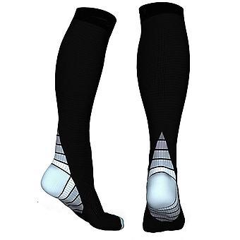 Knee-high compression socks for running & Sport Grey