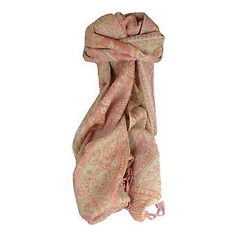 Uitlaat sjaal 3753 in Fine Pashmina wol erfgoed bereik door Pashmina & Silk