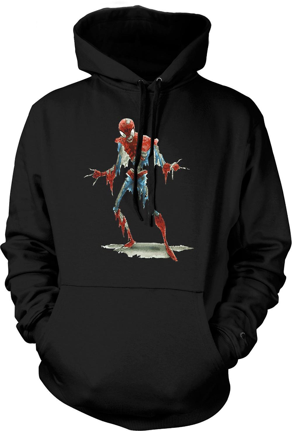 Mens Hoodie - Spiderman Zombie - Funny