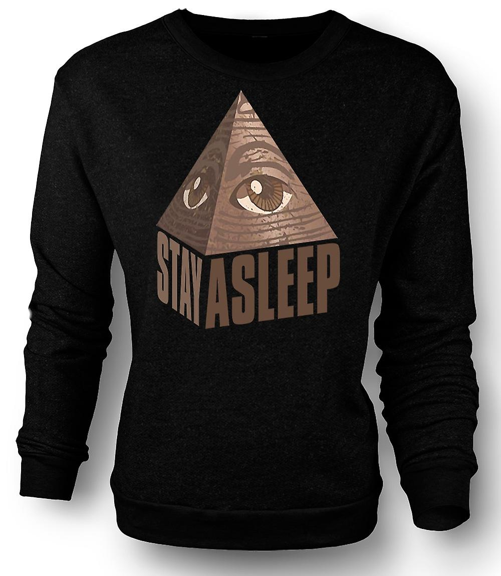 Mens Sweatshirt Illuminati Stay Asleep