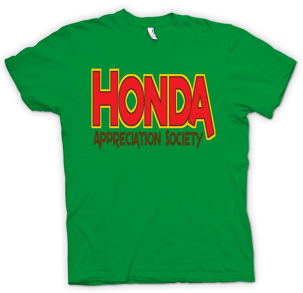Mens t-skjorte-Honda Appreciation Society