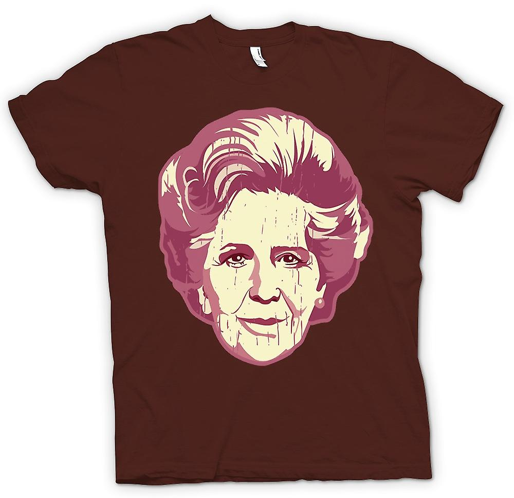 Mens t-shirt-Margaret Thatcher Pop Art