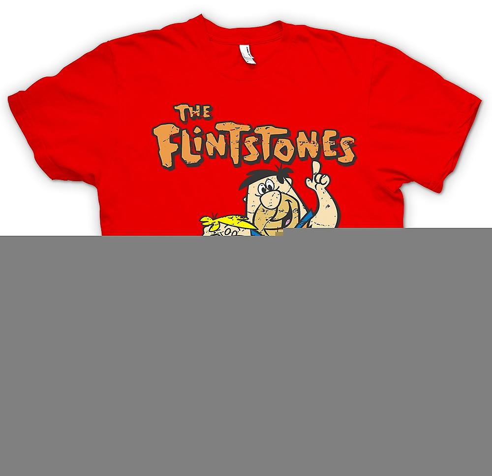 Mens T-shirt - The Flintstones - Fred And Barney - Cool Cartoon