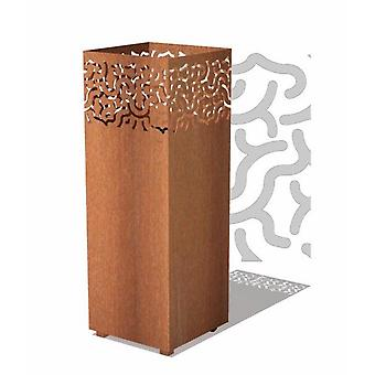 Lucy brand søjle II Corten stål 40 x 40 x 100 cm-rust