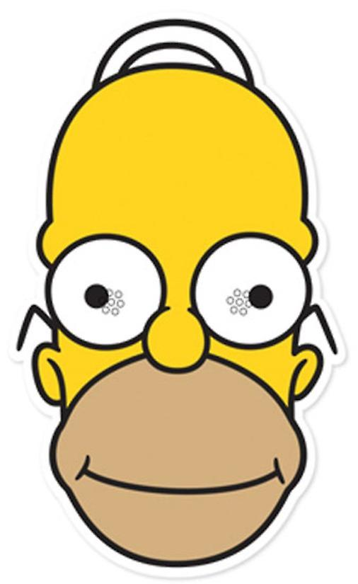 Homer Simpson Party Card Face Mask (The Simpsons)