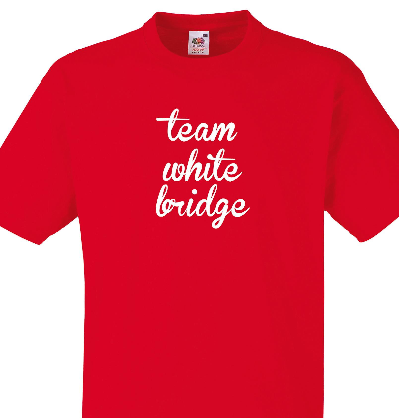 Team White bridge Red T shirt