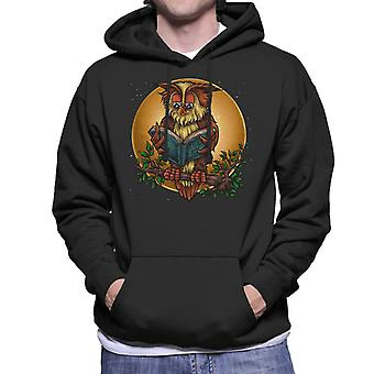 Wise Book Owl Men's Hooded Sweatshirt
