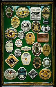 Guinness Labels Collage (nol) embossed steel sign