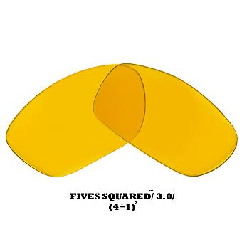FIVES SQUARED Replacement Lenses Hi Intensity Yellow by SEEK fits OAKLEY