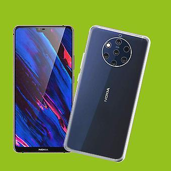 Silicona Silikoncase TPU transparente para Nokia PureView 9 funda protectora manga de bolsillo