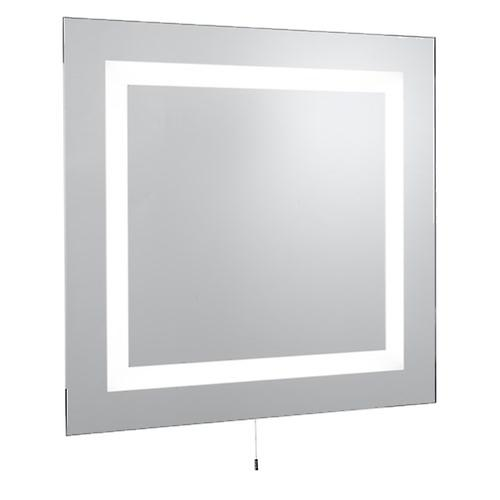 Searchlight 8510 Modern Bathroom Illuminated Mirror With Pull Switch IP44 Rating