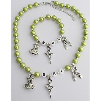 Ballet Jewelry Personalized Necklace & Bracelet Ballet Charms Jewelry