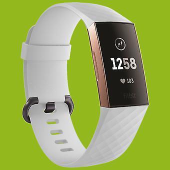 Voor Fitbit charge 3 plastic/silicone armband voor mannen/maat L wit horloge