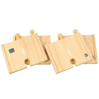 Bigjigs Rail Wooden Short Roadway (Pack of 4) Road Track Expansion