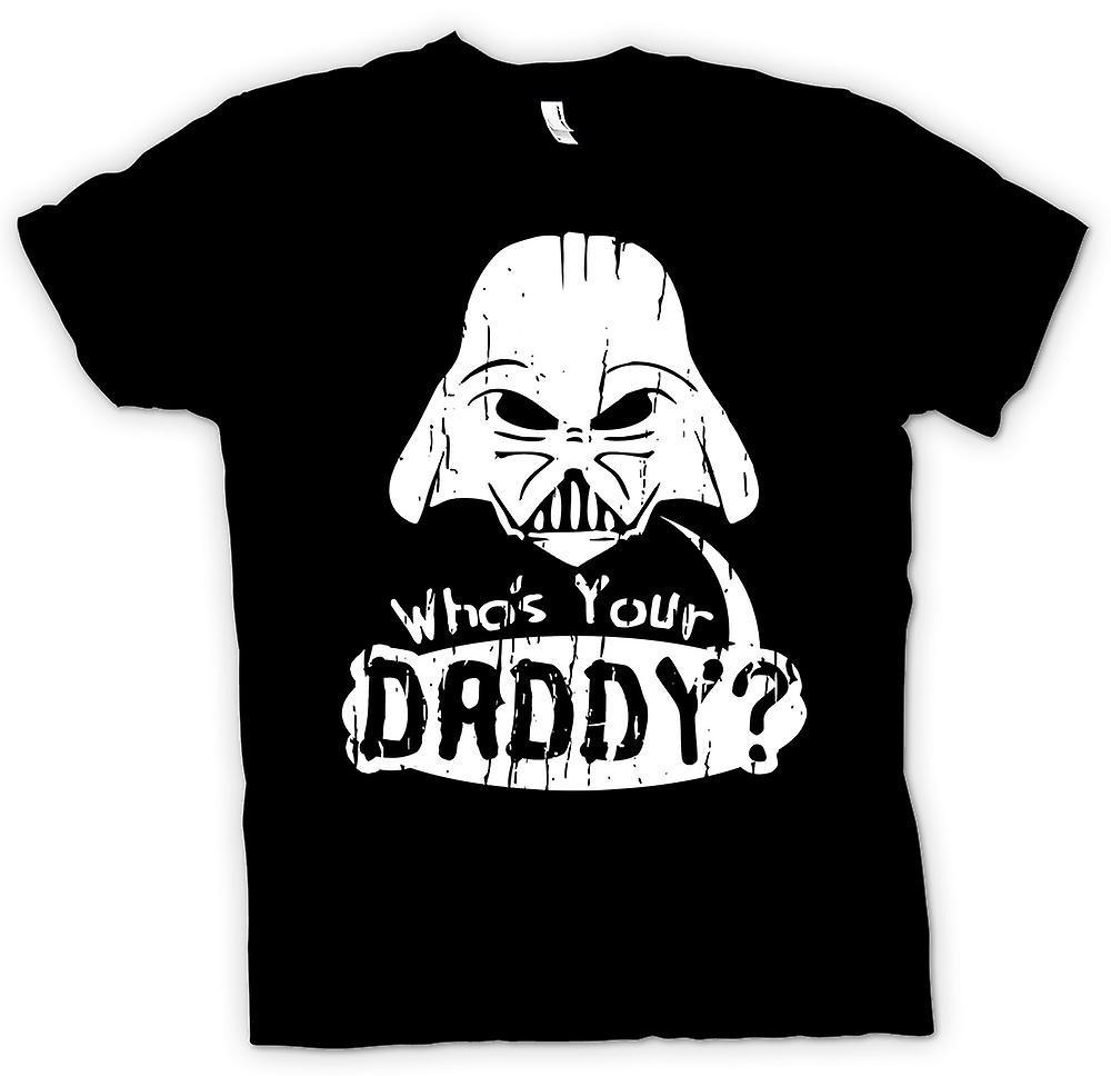Kids t-shirt-quien es su papá - Darth divertido
