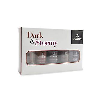 Jessica Dark e Stormy coleção unha polonês (X5 7.4 ml)