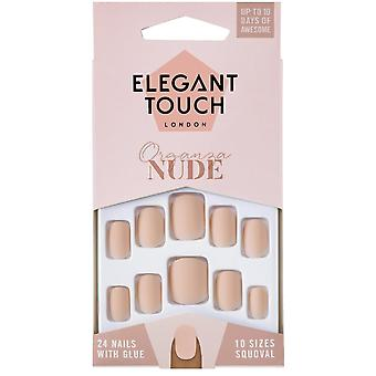 Elegant Touch Nude False Nails Collection - Organza (24 Nails)