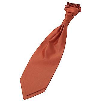 Rust shantung pre-bundet bryllup Cravat